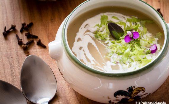 Crema de verduras-Piruletas de jamón-Blog de cocina