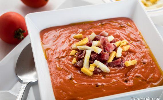 Salmorejo-Piruletas de jamón-Blog de cocina