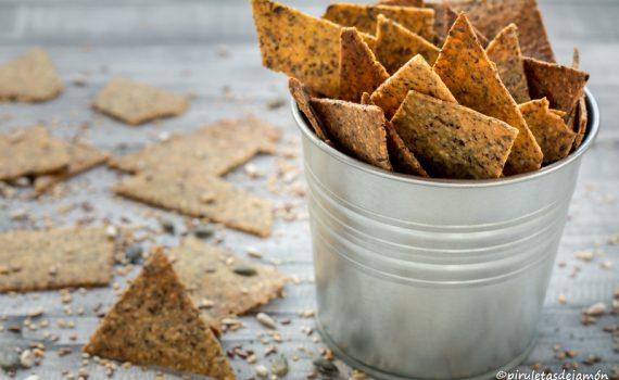 Nachos caseros-Piruletas de jamón-Blog de cocina