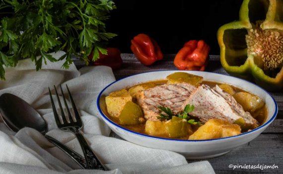 Guiso de bonito |Piruletas de jamón - Blog de cocina