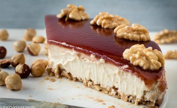 Tarta de queso-Piruletas de jamón- Blog de cocina