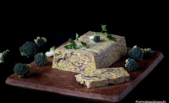 Pastel de champiñones y brócoli | Piruletas de jamón - Blog de cocina