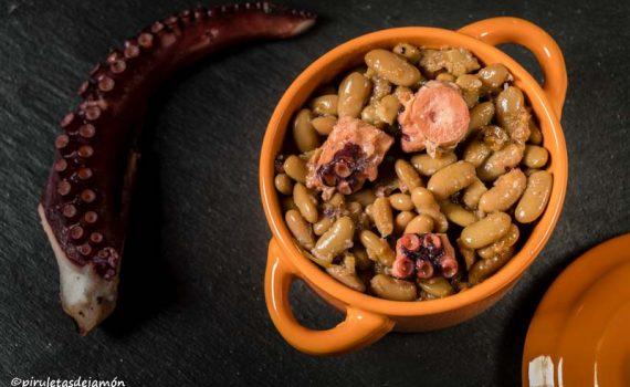 Verdinas con pulpo |Piruletas de jamón - Blog de cocina