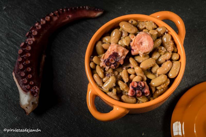 Verdinas con pulpo |Piruletas de jamón- Blog de cocina