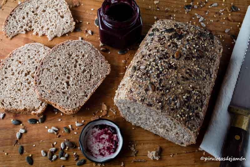Pan de espelta integral |Piruletas de jamón- Blog de cocina
