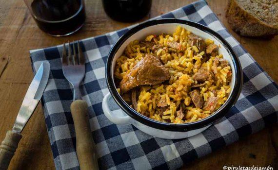 Arroz con jabalí |Piruletas de jamón - Blog de cocina