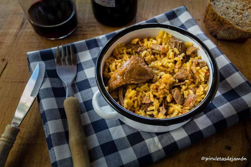 Arroz con jabalí |Piruletas de jamón- Blog de cocina