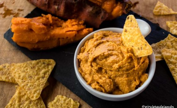 Hummus de boniato |Piruletas de jamón - Blog de cocina