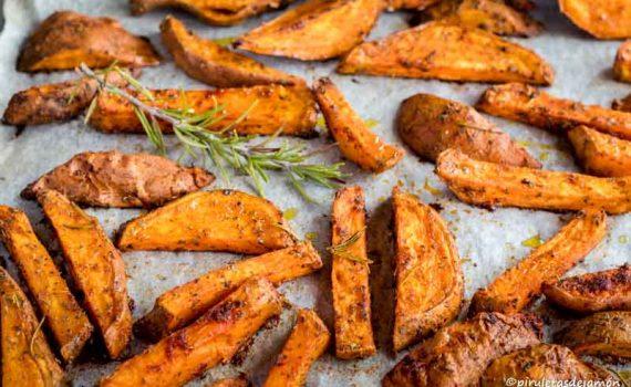 Gajos de boniato |Piruletas de jamón - Blog de cocina