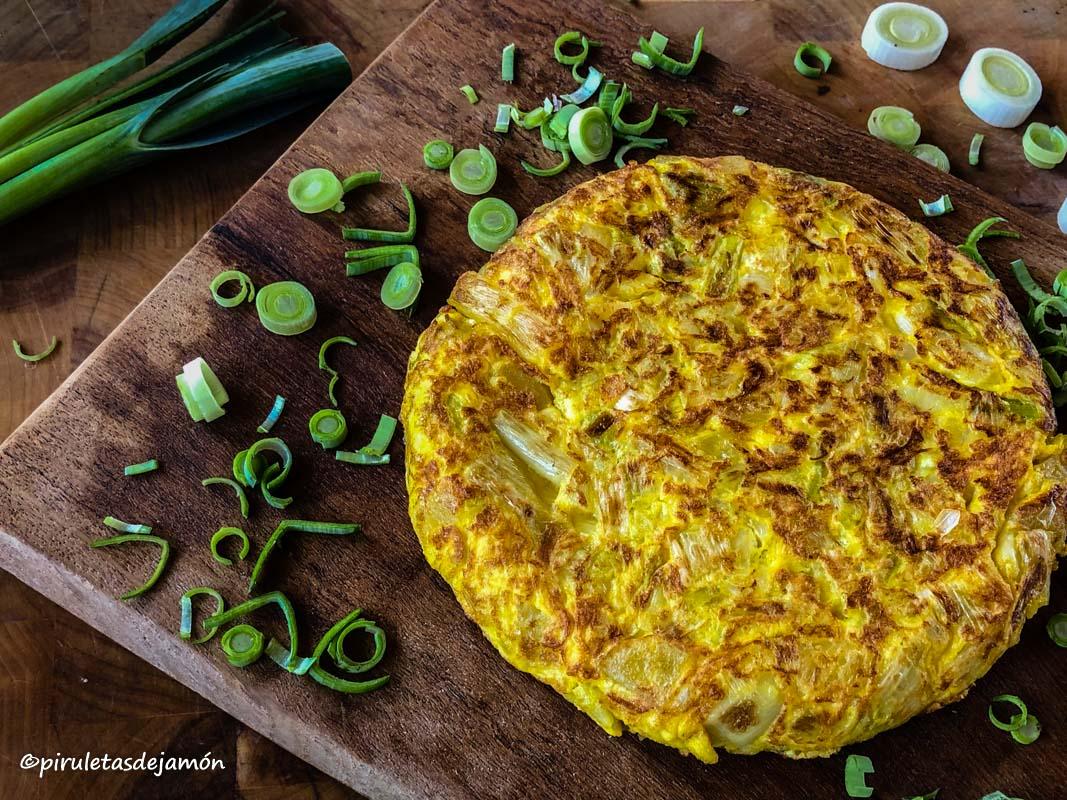 Tortilla de puerros | Piruletas de jamón - Blog de cocina