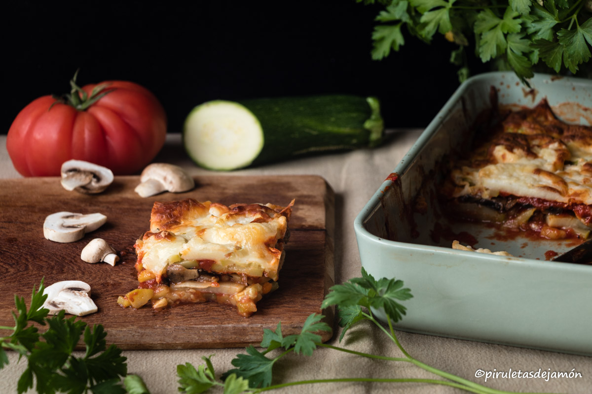 Lasaña de verduras |Piruletas de jamón- Blog de cocina