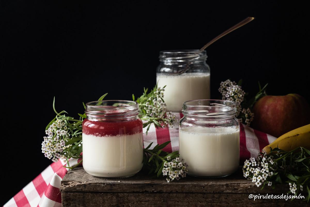 Yogur natural |Piruletas de jamón- Blog de cocina