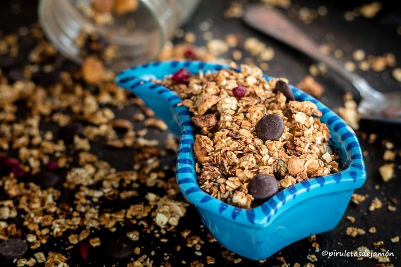 Granola |Piruletas de jamón- Blog de cocina