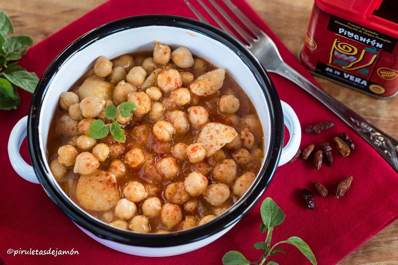 Garbanzos guisados |Piruletas de jamón- Blog de cocina