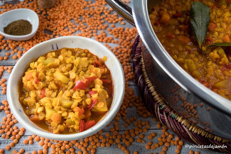Lenteja roja |Piruletas de jamón- Blog de cocina