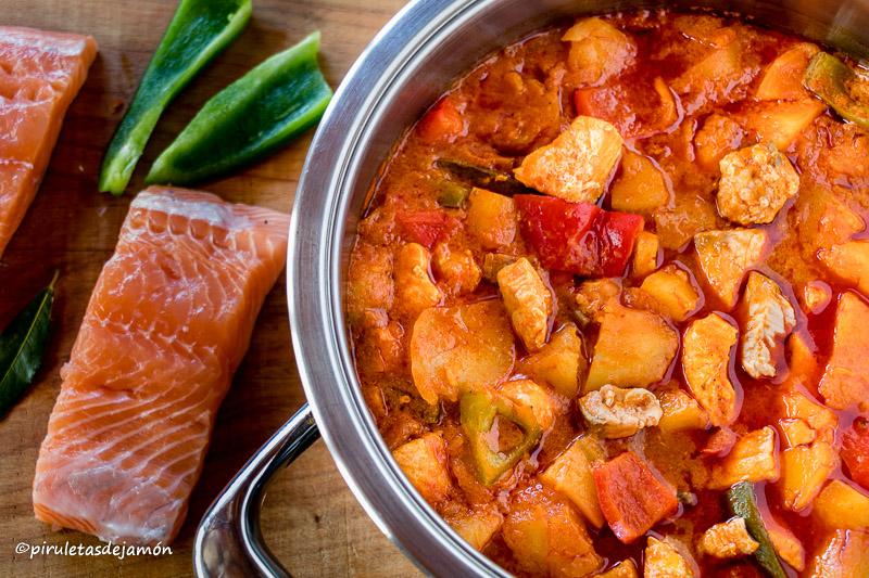 Marmita de salmón |Piruletas de jamón- Blog de cocina