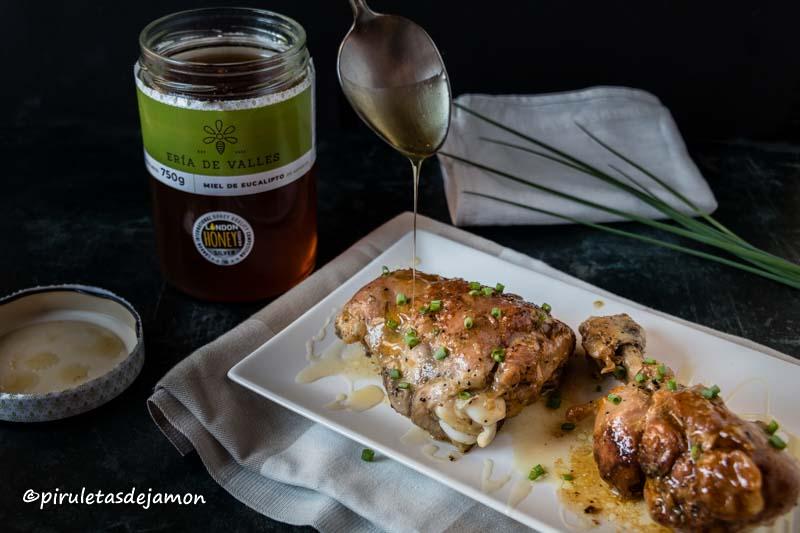 Pollo con miel |Piruletas de jamón- Blog de cocina