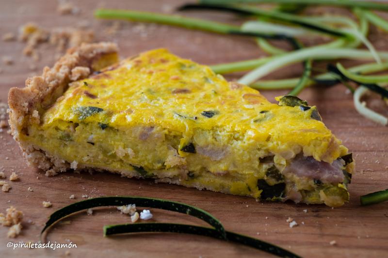 Quiche de calabacín y jamón york-Piruletas de jamón-Blog de cocina