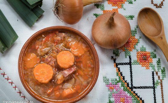 sopa de verduras  Piruletas dejamón- Blog de cocina