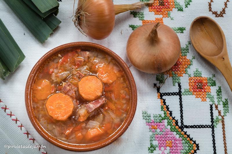 Sopa de verduras-Piruletas de jamón- Blog de cocina