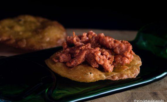 Tortos de maíz-Piruletas de jamón - Blog de cocina