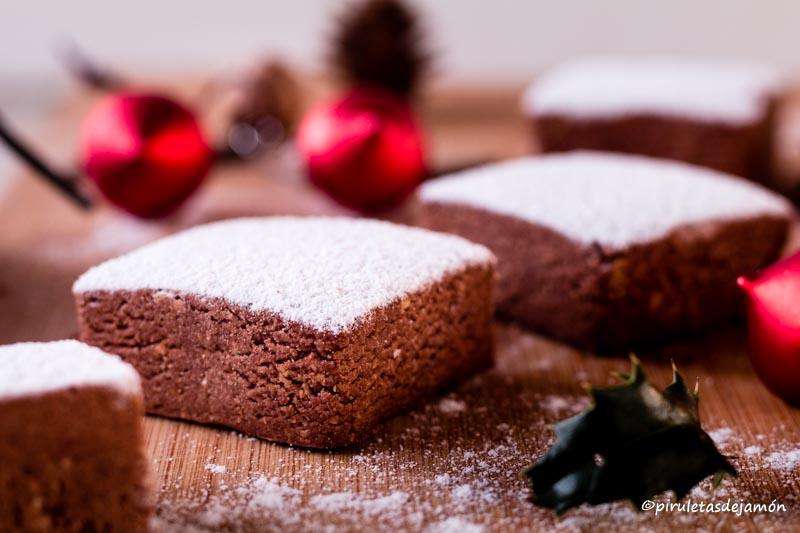 Polvorones de almendra y cacao -Piruletas de jamón- Blog de cocina