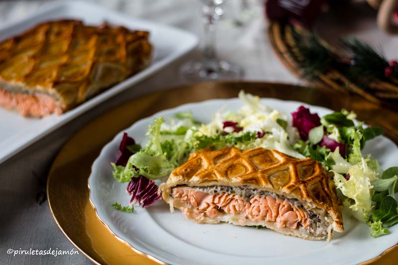 Salmón en hojaldre -Piruletas de jamón- Blog de cocina