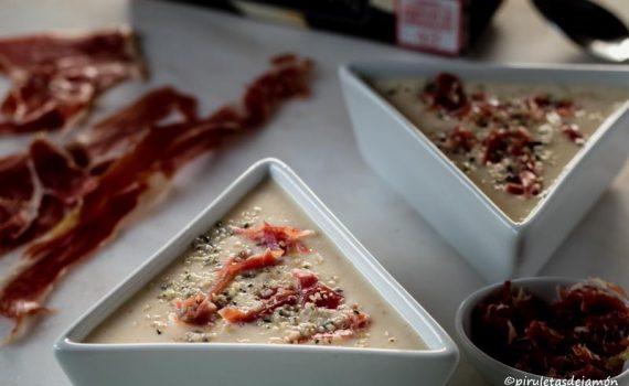 Crema de esparragos |Piruletas de jamón- Blog de cocina