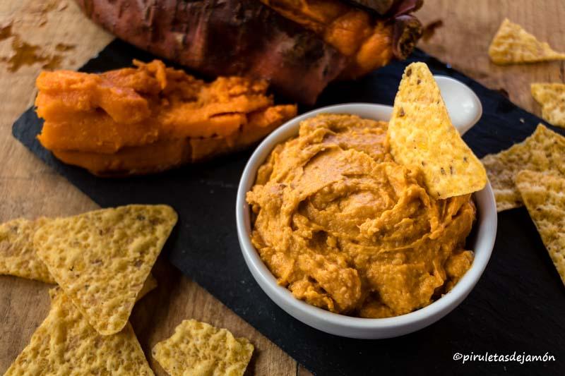Hummus de boniato |Piruletas de jamón- Blog de cocina