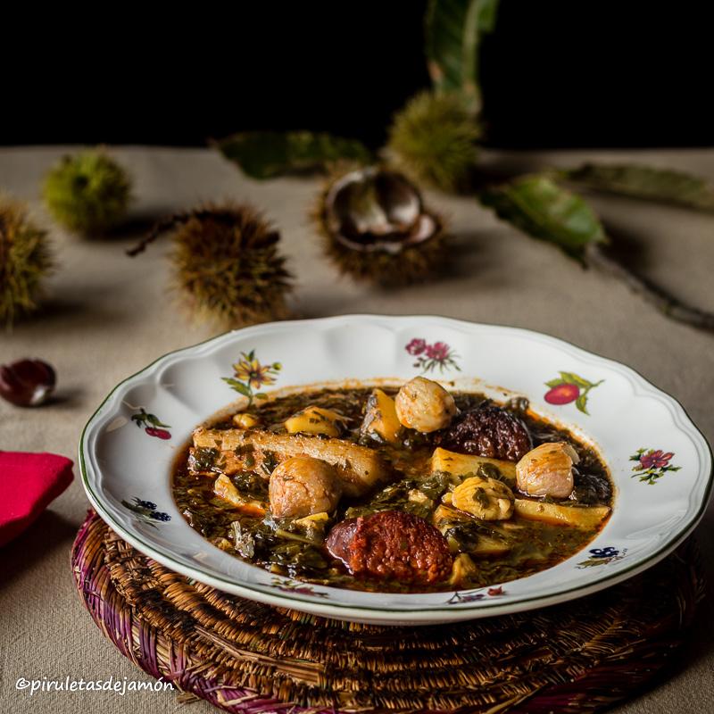 Pote de castañas |Piruletas de jamón- Blog de cocina