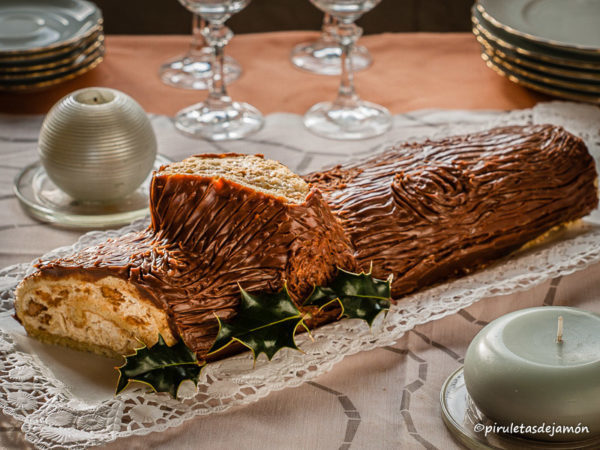 Tronco de Navidad |Piruletas de jamón- Blog de cocina