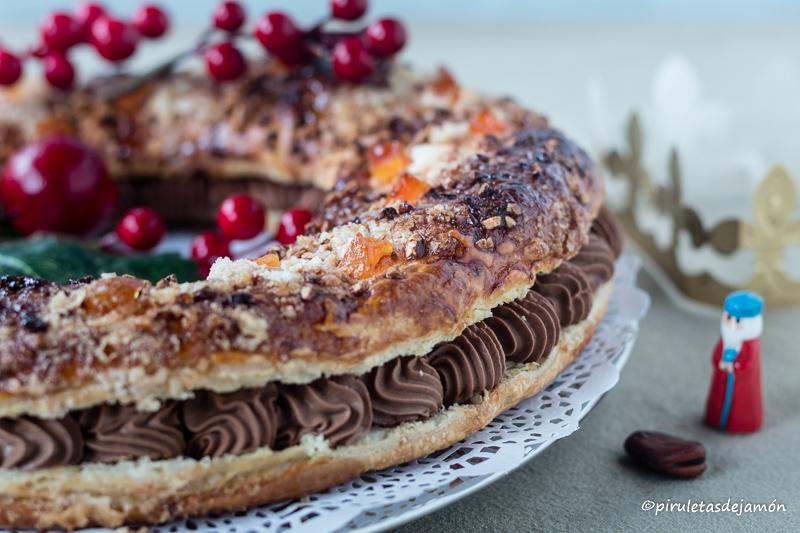 Roscón de Reyes de hojaldre |Piruletas de jamón- Blog de cocina