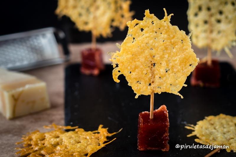 Piruletas de parmesano|Piruletas de jamón- Blog de cocina