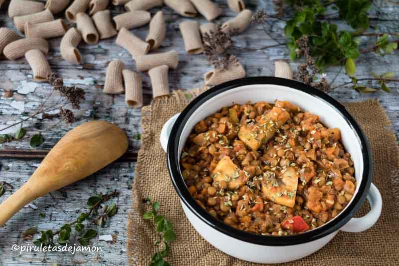 Boloñesa de lentejas |Piruletas de jamón - Blog de cocina