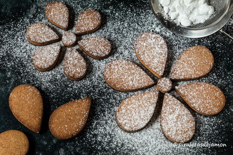 Galletas con harina de castañas |Piruletas de jamón - Blog de cocina