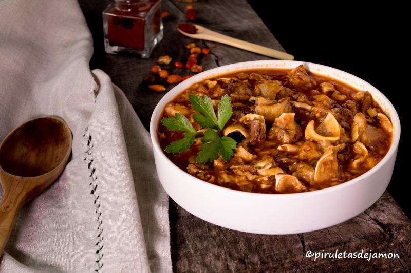 Oreja guisada |Piruletas de jamón - Blog de cocina