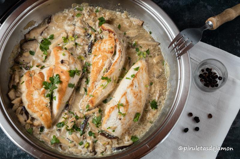 Pechugas de pollo en salsa | Piruletas de jamón - Blog de cocina