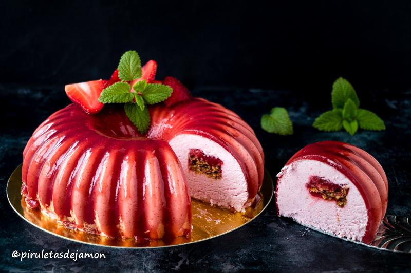 semifrío de fresa | Piruletas de jamón - Blog de cocina