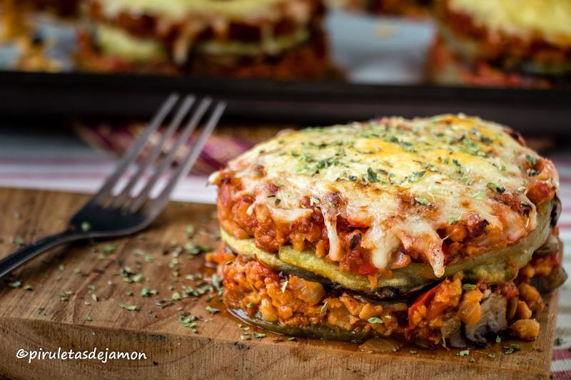 Milhojas de verduras | Piruletas de jamón - Blog de cocina