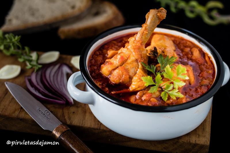 Pollo con verduras | Piruletas de jamón - Blog de cocina