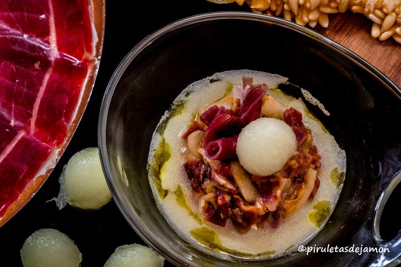 Sopa de melón | Piruletas de jamón - Blog de cocina