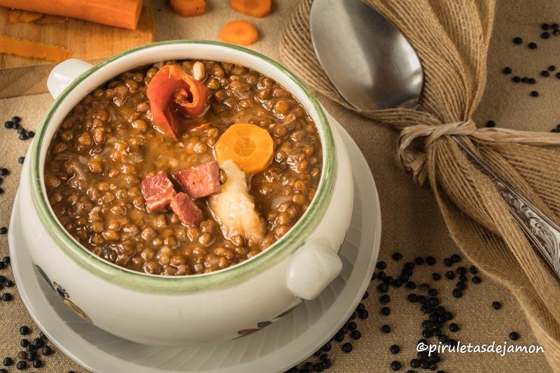Lentejas negras   Piruletas de jamón - Blog de cocina